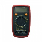 DT33B LCD Handheld Digital Multimeter for Home and Car - Red