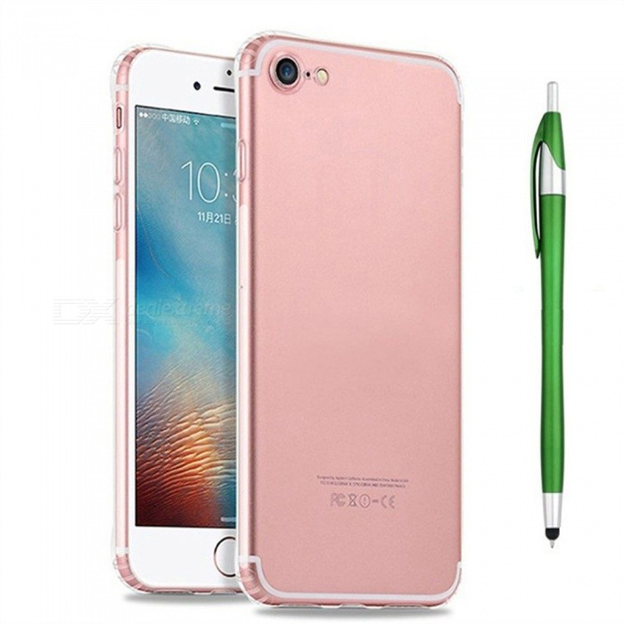 SZKINSTON Shockproof TPU Back Case With Green Ballpoint Capacitive Pen for IPHONE 7 / 8TPU Cases<br>ColorGreenModelKST1802016Quantity1 setMaterialTPUCompatible ModelsiPhone 7,IPHONE 8DesignSolid Color,Transparent,Special ShapedStyleBack CasesPacking List1 x TPU Case1 x Black Ballpoint Capacitive Pen1 x Pretty Red Box<br>