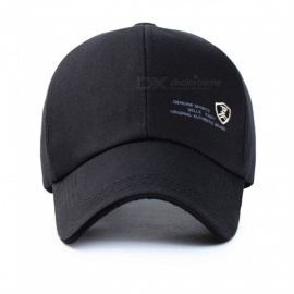 Outdoor Adjustable Leisure Fashion Baseball Cap - Black + white
