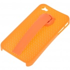 Protective Back Case with Stand Holder for iPhone 4 (Orange)