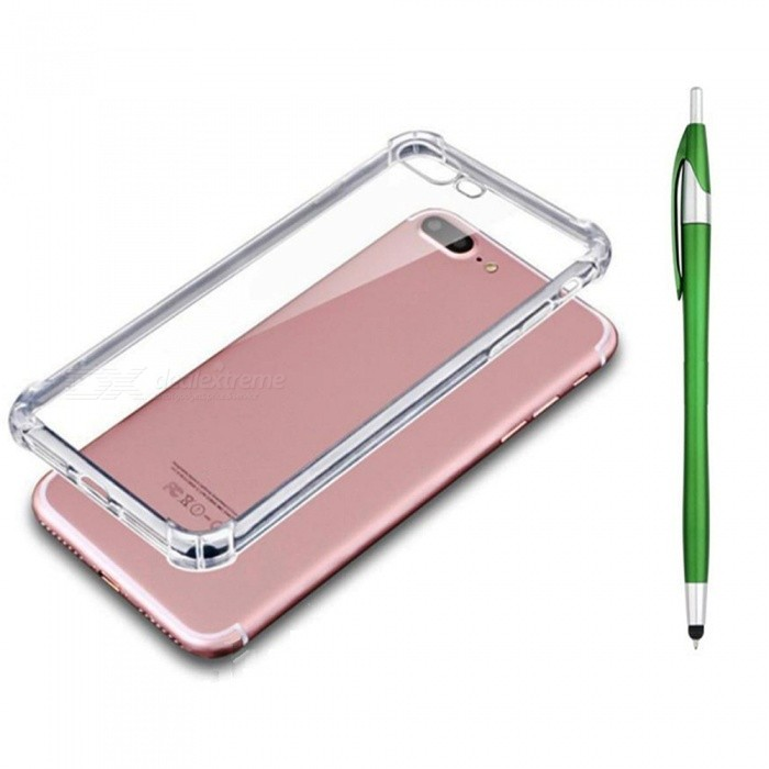 SZKINSTON Shockproof TPU Back Case With Green Ballpoint Capacitive Pen for IPHONE 7 / 8 PlusTPU Cases<br>ColorGreenModelKST1802018Quantity1 setMaterialTPUCompatible ModelsiPhone 7 PLUS,IPHONE 8 PLUSDesignSolid Color,Transparent,3D,Special ShapedStyleBack CasesPacking List1 x TPU Case1 x Black Ballpoint Capacitive Pen1 x Pretty Red Box<br>