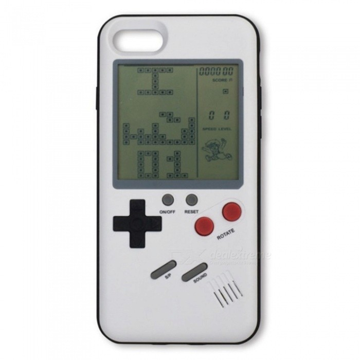 Retro Vintage Tetris Game Phone Case for 5.5 Inches IPHONE 6 PLUS -  whiteOther Cases<br>ColorWhite - IPHONE 6 PLUSModelN/AMaterialOthers,ABSQuantity1 pieceShade Of ColorWhiteCompatible ModelsIPHONE 6 PLUSPacking List1 x Game phone shell<br>