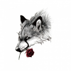 HB-889 Wolf Pattern Non-Toxic Waterproof Flash Temporary Tattoo Sticker for Women Men Teen