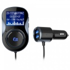 BC30 Handsfree Bluetooth Car Charger Kit with FM Transmitter Modulator, MP3 Radio Player