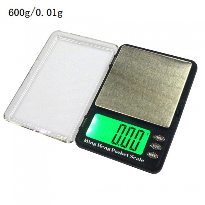 600g/0.01g 2.2 LCD Display High-Precision Electronic Scale (2 x AAA)Digital Scales<br>Application600gModel339Quantity1 setMaterialStainless steel + plastic ABSTypePortable Scale,Jewelry ScaleScreen Size2.2 inchesMax. Weight600gMin. Weight0.01gUnitg,kg,ct,lb,ozDivision0.01gAuto Power OffNoPowered ByAAA BatteryBattery Number2Battery included or notYesPacking List1 x Electronic scale2 x AAA batteries1 x Instruction<br>