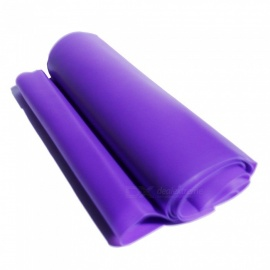 Latex Material Yoga Tension Belt, Elastic Band - Purple