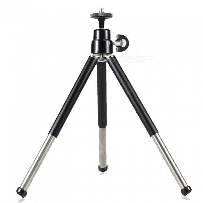 OJADE 360 Degree Rotation Folding Stand Tripod for Cell Phones - BlackMounts &amp; Holders<br>ColorblackQuantity1 pieceMaterialABSCompatible ModelsOthers,UniversalMount TypeDesktopRotation360 °With ChargerNoPacking List1 x Tripod<br>