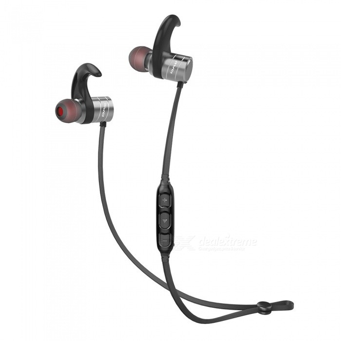 AWEI AK1 IPX4 Waterproof Wireless Bluetooth CSR4.1 Earphone, Stereo Earbuds - GrayHeadphones<br>ColorGrayBrandAWEIModelAK1MaterialTPE + ABS + magnet + metalQuantity1 setConnectionBluetoothBluetooth VersionBluetooth V4.1Bluetooth ChipCSROperating Range10MConnects Two Phones SimultaneouslyYesHeadphone StyleBilateral,Earbud,In-EarWaterproof LevelIPX4Applicable ProductsUniversalHeadphone FeaturesEnglish Voice Prompts,Phone Control,Long Time Standby,Magnetic Adsorption,Noise-Canceling,Volume Control,With Microphone,Lightweight,Portable,For Sports &amp; ExerciseSupport Memory CardNoSupport Apt-XYesChannels5.1Driver Unit6mmBattery TypeLi-polymer batteryBuilt-in Battery Capacity 65 mAhStandby Time240 hoursTalk Time12 hoursMusic Play Time10 hoursPacking List1 x Bluetooth earphone2 Pairs x Ear tips1 x USB cable1 x User manual<br>