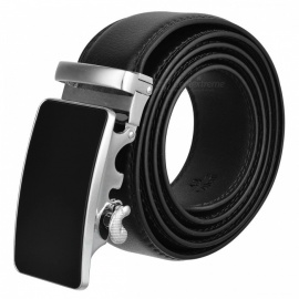 Premium Men's Automatic Buckle Leather Belt - Black