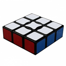 QiYi 1x3x3 Speed Smooth Magic Cube, Finger Puzzle Toy 19x57x57mm - Black