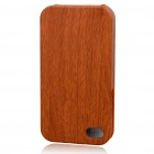 Stylish Wood Style Protective PU Leather Case for Iphone 4 - Brown