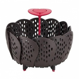 Lotus Style Retractable Folding Fruit Basket Portable Steamer Vegetables Storage Basket