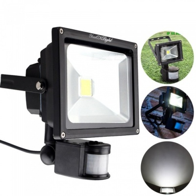 YouOKLight 10W LED Daylight Cold White Floodlight, Motion Sensor PIR Flood Light, Waterproof Outdoor Security Lamp