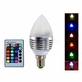 ywxlight E14 3W RGB regulable a distancia bombilla vela decorativa AC 85-265V