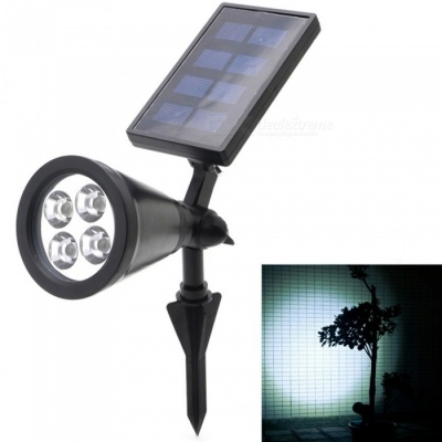 YouOKLight Outdoor 2W LED Solar Power Cold White Light Spotlight Garden Lawn Lamp Landscape Spot Light