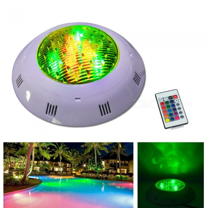 Jiawen 12W Dimmable RGB Round LED Underwater Swimming Pool Light AC 12-24VUnderwater Lights<br>Power12WMaterialPlasticQuantity1 pieceLife Span3000 hoursWater-proofIP68Power12WRated VoltageOthers,AC 12-24 VEmitter TypeLEDTotal Emitters12Theoretical Lumens960 lumensActual Lumens960 lumensColor BINRGBDimmableYesInstallation TypeWall MountOther FeaturesNo interface, requires transformer to 12-24V power supplyPacking List1 x Underwater lamp 1 x Remote controller (Built-in 1 x CR2025 button cell)<br>