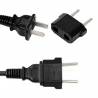 YWXLight Standard US / AU to European Euro EU Travel Charger Adapter Plug Outlet Converter - Black