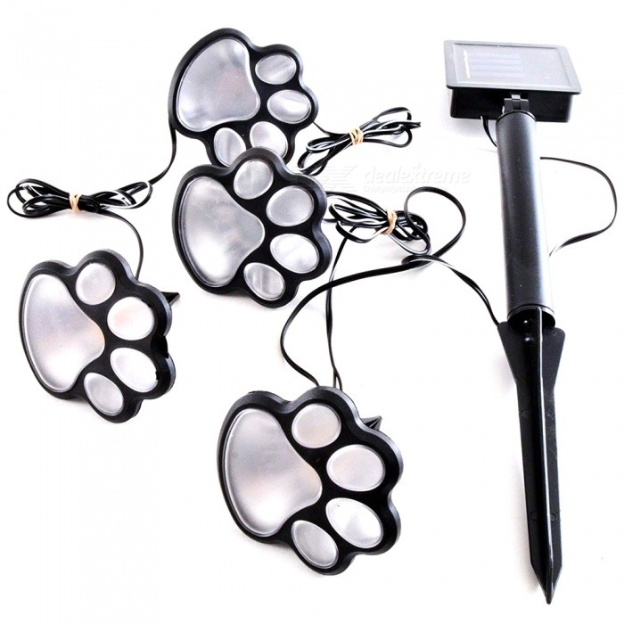 YWXLight Paw Print Shape Solar Garden Light Kit for Outdoor Lawn Decor Lighting - Warm WhiteSolar Lamps<br>Emitting ColorWarm WhiteMaterialPCQuantity1 setWaterproof LevelIP67Emitter TypeLEDPower4 WWorking Voltage   DC 5 VLumens250-300 lumensPacking List1 x YWXLight LED lamp<br>