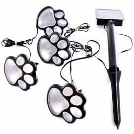 YWXLight Paw Print Shape Solar Garden Light Kit for Outdoor Lawn Decor Lighting - Warm White
