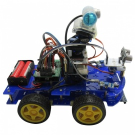 Carro robusto programável inteligente arduino com wi-fi, rastreamento por bluetooth, obstáculos anti-ultra-som