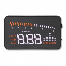 Universal X5 GPS HUD Head Up Display, Auto Styling Velocimetro Speed Alarm, OBD II OBD2 Car Hub Windshield Projector