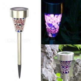 ZHAOYAO Waterproof Solar Powered Lawn Lamp for Outdoor Garden Landscape Decoration - Purple