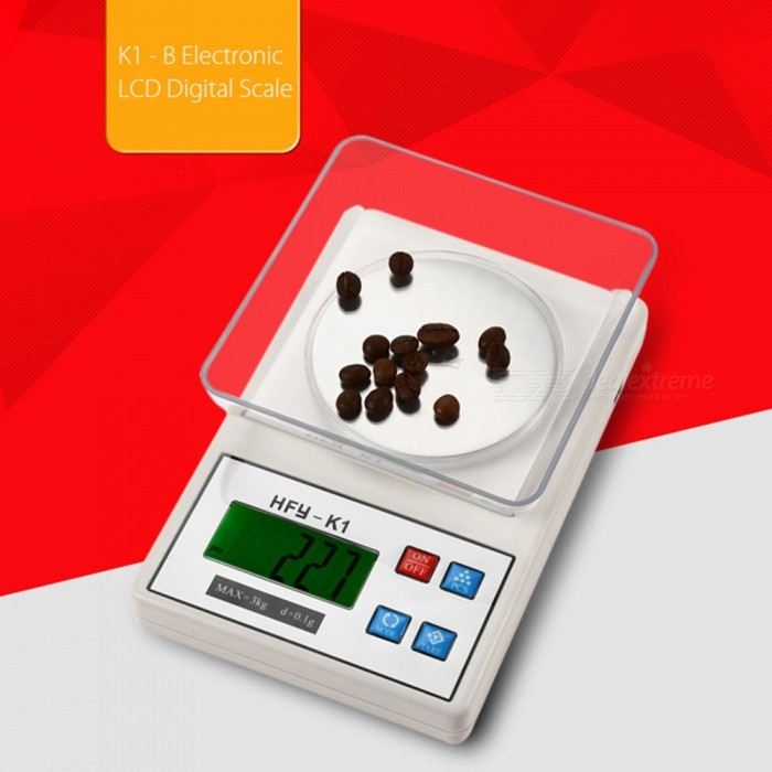HFY-K1 3kg/0.1g 2.2 Display High Quality Electronic Kitchen Scale (2 x AA)Digital Scales<br>Colorcreamy-whiteModelHFY-K1Quantity1 setMaterialStainless steel + plastic ABSTypeKitchen ScaleScreen Size2.2 inchesMax. Weight3kgMin. Weight0.1gUnitg,kg,ct,lb,ozDivision0.1gAuto Power OffNoPowered ByAA BatteryBattery Number2Battery included or notYesPacking List1 x Electronic scales1 x Tray2 x AA batteries 1 x Set of instructions in English and Chinese<br>