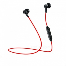 i8 Bluetooth Stereo Earphones Magnetic Headset Earbuds for Xiaomi Samsung - Red + Black