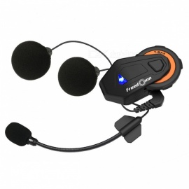 KELIMA T-MAX Outdoor Motorcycle Helmet Bluetooth Intercom Headphones HD Stereo Sound - Black