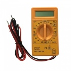 Ismartdigi DT830A LCD Handheld Digital Multimeter, Using for Home and Car - Yellow