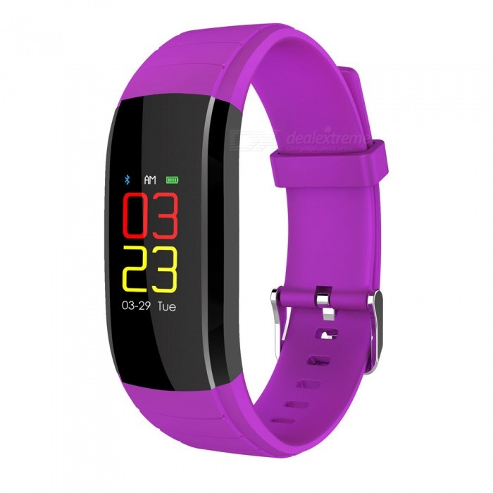 UP-X Color Screen Fitsness Smart Bracelet w/ Dynamic Heart Rate Blood Pressure Monitoring, Calls, Message Reminder - PurpleSmart Bracelets<br>ColorPurpleModelUPXQuantity1 piecesMaterialTPUWater-proofIP67Bluetooth VersionBluetooth V4.0Touch Screen TypeIPSOperating SystemAndroid 4.4,iOSCompatible OSAndroid  IOSBattery Capacity80 mAhBattery TypeLi-ion batteryStandby Time20 daysPacking List1 x Smart Wristband1 x Charging Cable1 x User Manual<br>