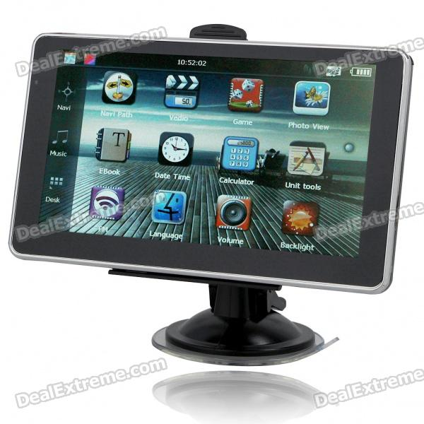 "6.0"" TFT LCD Windows CE 5.0 MT3551 CPU GPS Navigator with Brazil Maps 4GB TF Card"