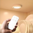 P-TOP Portable Rechargeable Wireless Remote Control LED Night Light, Cabinet Closet Light Lamp - White