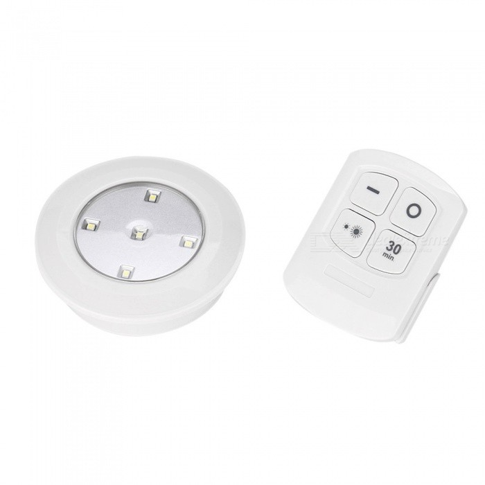 P-TOP Wireless Remote Control LED Touch Night Light, Creative Bedside Wardrobe Cabinet Decorative Lamp - WhiteLED Nightlights<br>Emitting ColorWhite LightForm  ColorWhiteMaterialABSQuantity1 setPowerOthers,0.3WRated VoltageOthers,4.5 VColor BINCold WhiteEmitter TypeLEDTotal Emitters5Color Temperature5000KDimmableYesBeam Angle100 °Installation TypeWall MountPacking List1 x Manual1 x Remote Control1 x Remote control light<br>