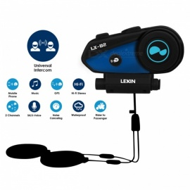 Lexin B2 Motorcycle Bluetooth Helmet Headsets Intercom BT Wireless Interphone