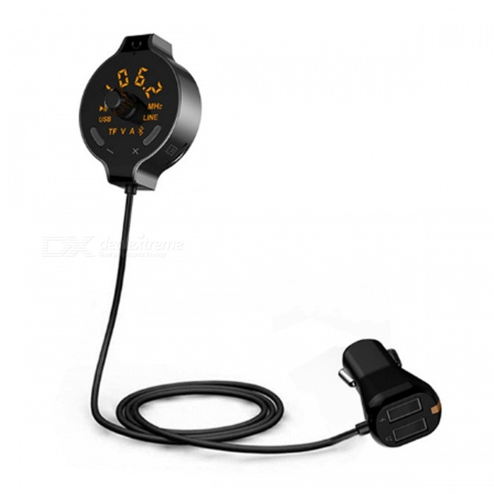 Q8S FM Transmitter Bluetooth Car Kit Charger Hands-free Car MP3 Player Support U Disk, TF CardFM Transmitters and Players<br>ColorBlackModelQ8SQuantity1 pieceMaterialABSFM Frequency Range87.5-108.0 MhzFM Transmit Distance10 mAudio FormatsOthers,MP3 / WMAInterface/PortOthersExternal Memory Max. Support32 GBPower Supply12~24 VPacking List1 x Bluetooth Car Kit With FM Transmitter1 x Audio cable1 x User Manual<br>