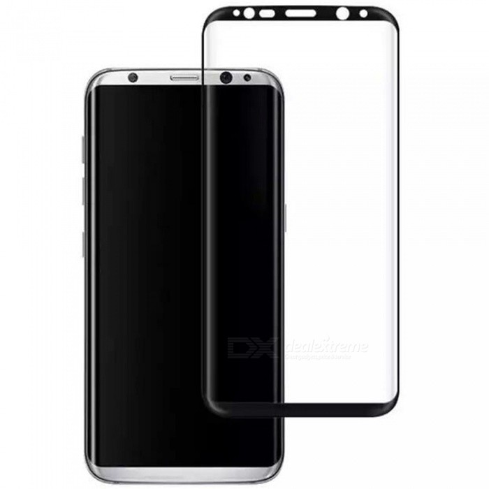 ASLING Explosion Proof 3D High Definition HD Full Body Tempered Glass Screen Protector for Samsung Galaxy S9 - Black