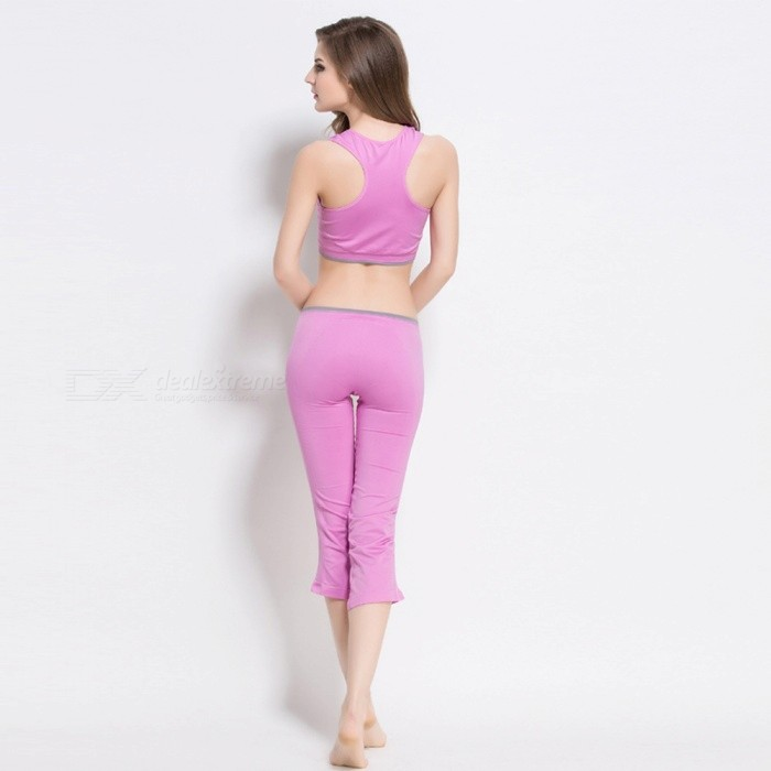 96d2697c4062 Fanshimite SW-C011 Workout Fitness Yoga Clothes Sportswear Aerobic Exercise  Clothing Set - L