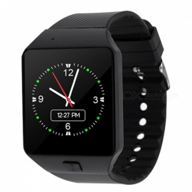 QW18 pèlerinage bluetooth bracelet montre intelligente, support carte SIM TF - noir