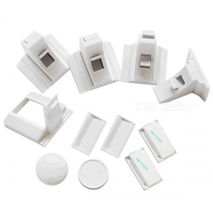 New Invisible Type 8+2 Magnetic Protective Drawer Security Lock Set for BabyOther  Supplies<br>ColorWhiteMaterialMagnet + ABSQuantity1 setCertificationCEPacking List8 x Locks2 x Keys1 x Packaging<br>