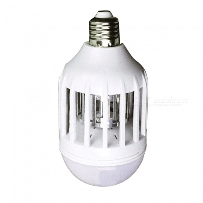 15W 220V E27 3-Mode Upgraded Lighting Anti-mosquito Spherical Bulb Lamp - WhitePower Supply220VQuantity1 pieceMaterialPlastic, electronic components.FunctionKilling mosquitoes and lighting.Power15WVoltage220VPower AdapterE27 screwPacking List1 x Light bulb<br>
