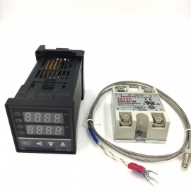 ZHAOYAO REX-C100 Digital PID Temperature Controller Thermostat  + Max.40A SSR Relay + K Thermocouple Probe