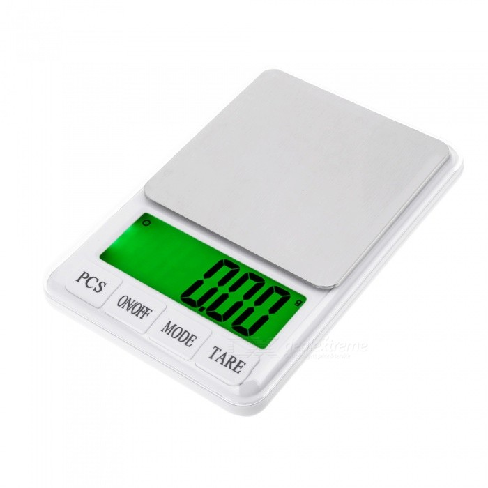High Quality 4.5 Display Screen 600g/0.01g Precision Electronic ScaleDigital Scales<br>Application600g/0.01gModelwhite 887Quantity1 setMaterialstainless steel + plastic ABS;TypeJewelry Scale,Kitchen ScaleScreen Size4.5 inchesMax. Weight600gMin. Weight0.01gUnitg,kg,ct,lb,ozDivision0.01gAuto Power OffNoPowered ByAA BatteryBattery Number2Battery included or notYesPacking List1 x Electronic scale2 x AA batteries1 x Instructions in English and Chinese<br>