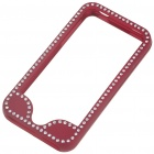 Stylish Protective Metal Case Bumper for Iphone 4 - Red