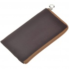 Small Flannel Pouch Bag for Cell Phone/Gadgets (Coffee)