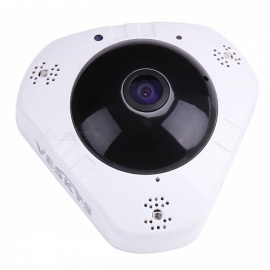 VESKYS 1.3MP 960P HD 360 Degree Panoramic Mini Wireless WiFi IP Camera with Cloud Storage (US Plug)