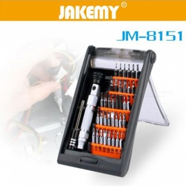 JAKEMY JM-8151 38 in 1 Screwdriver with Bits Set for Mobile Phone Repairing - Silver