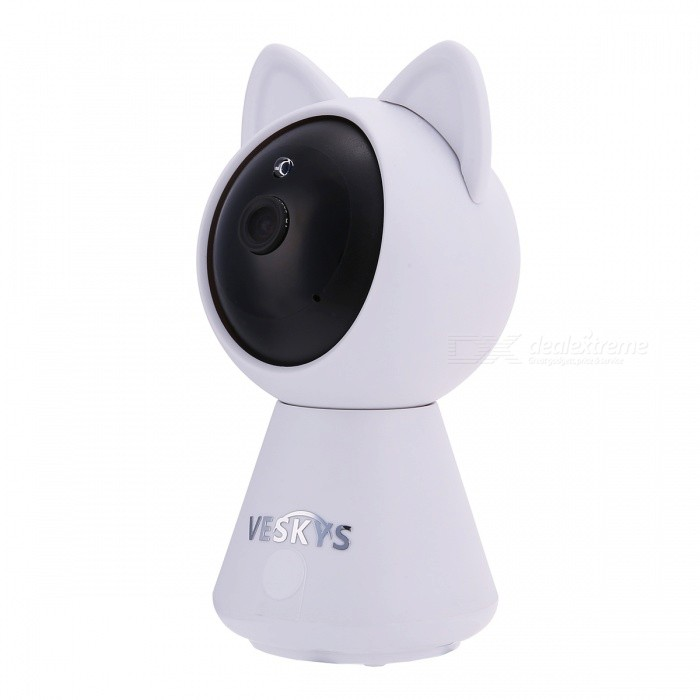 VESKYS 2.0MP Smart IP Camera 1080P Wi-Fi Wireless Webcam P2P Home Security Network Baby Monitor Two Way Audio - US PlugIP Cameras<br>Plug TypeUS PlugModelN/AMaterialABSQuantity1 pieceImage SensorCMOSLensOthers,2.8mmPixels2.0MPViewing AngleOthers,75 °Video Compressed FormatH.264Picture Resolution1920 x 1080PFrame Rate25Input/OutputBuilt-in microphone / Audio line-outMinimum Illumination0.1 LuxNight VisionYesIR-LED Quantity6Night Vision Distance10 mWireless / WiFi802.11 b / g / nNetwork ProtocolTCP,IP,HTTP,uPnP,PPPoESupported SystemsOthers,NOSupported BrowserOthers,NOSIM Card SlotNoOnline Visitor4IP ModeDynamicMobile Phone PlatformAndroid,iOSSmart Alarmmotion detectionFree DDNSYesIR-CUTYesBuilt-in Memory / RAMNoLocal MemoryYesMemory CardTFMax. Memory Supported64GBMotorYesRotation AngleHorizontal:355 degree Vertical: 45 degreeSupported LanguagesEnglish,Simplified ChineseWater-proofNoIntercom FunctionYesPacking List1 x IP Camera 1 x USB Cable 1 x US Plug power adapter (110~240V)1 x Camera Fixed chassis1 x Pack of installation accessories1 x English user manual<br>