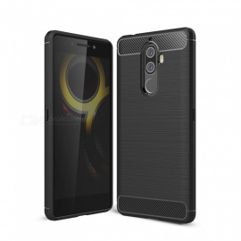Dayspirit Wire Drawing Carbon Fiber TPU Case for Lenovo K8 Note - Black