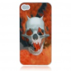 Protective Plastic Back Case with 4D Dynamic Graphic for Iphone 4 - Skeleton Head